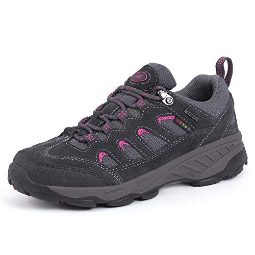 TFO Women's Lightweight Non-Slip Hiking Shoes Breathable Running Camping Outdoor Sports Trekking Shoes Sneakers (5.5 B(M) US = Foot Length 8.86in, Deep Gray)