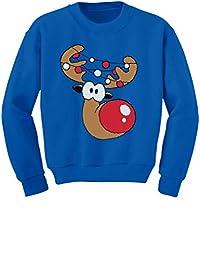 TeeStars - Cute Reindeer Face Boy / Girl Christmas Toddler/Kids Sweatshirts