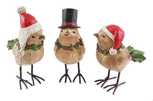 Chrstmas Winter Birds figurines