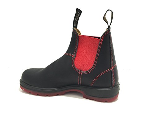 SCARPE UOMO DONNA BLUNDSTONE ANFIBIO BISUOLA BLACK RUSTIC RED ELASTICO 17BL01 (43 IT 9 UK)