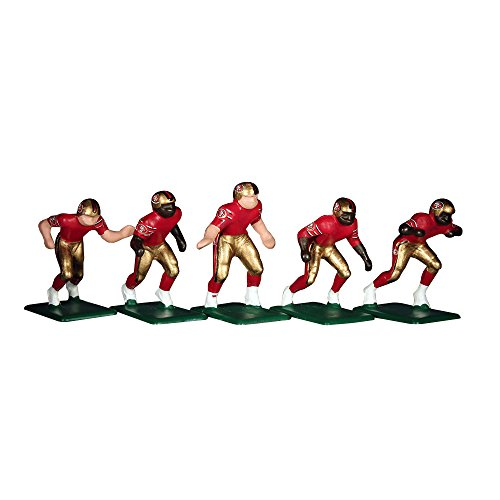 Tudor Games NFL Home Jersey-San Francisco 49ers 11 Electric Football Players Game Accessories (Piece), Multicolor (San Francisco 49ers Miniature)