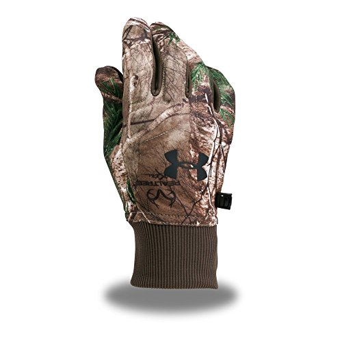 Under Armour Men's Scent Control Armour Fleece 2.0 Gloves, Realtree Ap-Xtra (946)/Black, - Gloves Hunting Under Armour