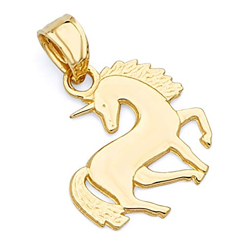 14k Yellow Gold Unicorn Pendant ()