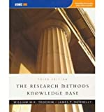 The Research Methods Knowledge Base [ The Research Methods Knowledge Base by Trochim, William M K ( Author ) Paperback Dec- 2006 ] Paperback Dec- 01- 2006
