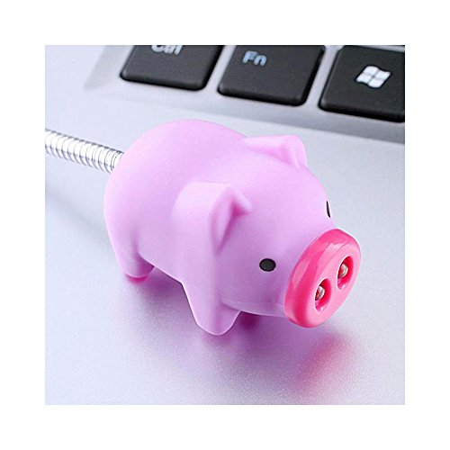 Cute LED USB Light, Adorable Pig USB Mini LED Light - Perfect for Laptops & Computers! by RED SHIELD (Image #1)