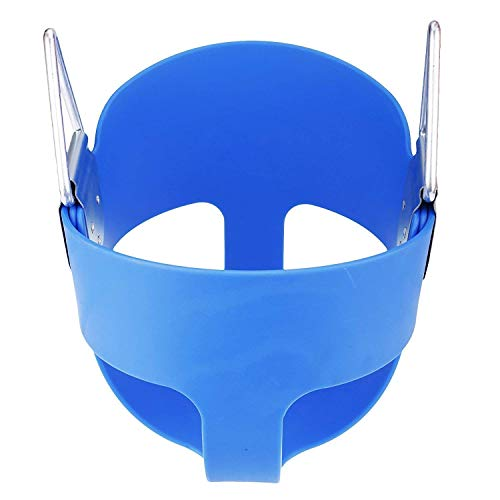 E EVERKING Swing Seat Heavy Duty High Back Full Bucket Toddler Swing Seat Set Accessories for Backyard,Outdoor Kids Swing Chair (Blue)