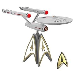 Best Epic Trends 41QbNX5t7tL._SS300_ Hallmark Keepsake 2020, Star Trek U.S.S. Enterprise Storytellers Musical Christmas Tree Topper With Light