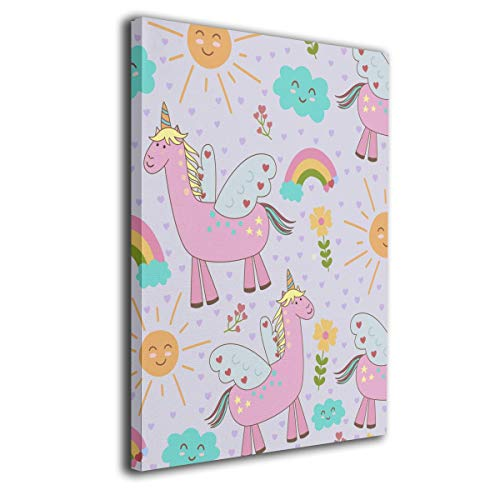 (Llama Pattern Frameless Decorative Painting Wall Art for Home and Office)