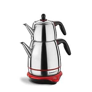 Korkmaz Gusto Elektrikli Çaydanlık, Inox/Siyah