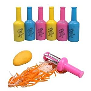 Bottle Shape Multi-Functional Fruite and Vegetable Peeler - Color Random