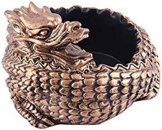 葉巻灰皿, クリエイティブ中国のレトロな支配ディスクドラゴンレジンギフト12X12X5cm