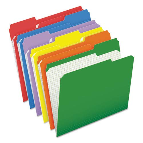 - Reinforced Top Tab File Folders, 1/3 Cut, Letter, Assorted, 100/Box, Sold as 100 Each