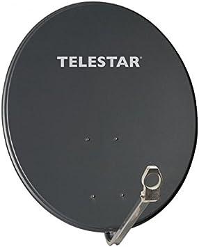 Telestar Alurapid 80 - Antena parabólica de aluminio (80 cm, soporte Alurapid, soporte LNB de 40 mm), color gris (importado)