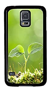 carry Samsung S5 covers Green Life 04 PC Black Custom Samsung Galaxy S5 Case Cover