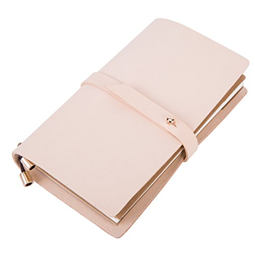 Pink Leather Journal Travel Diary for Girl Women abaeabd3f