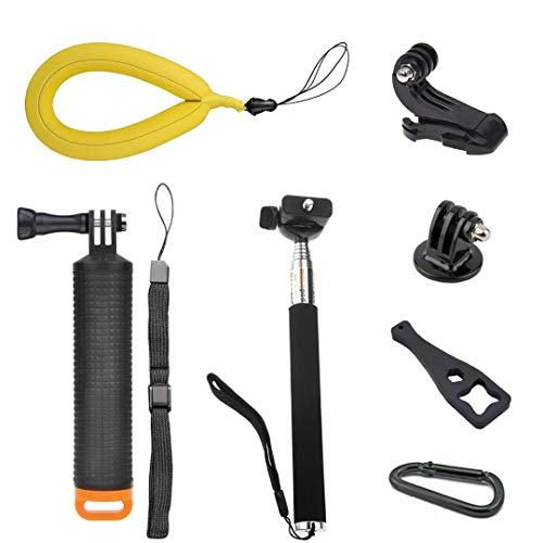 Nano-Tek Waterproof Floating Hand Grip for GoPro Cameras Hero 7 6 5 4 3 3+ 2 1 Handler/Handle Mount for GoPro Floating Grip/Gopro Stick Floating/Adjustable Extension Selfie Stick