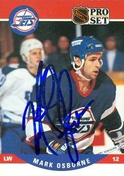Autograph Warehouse 64706 Mark Osborne Autographed Hockey...