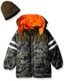 iXtreme Boys' Little Camo Puffer with Accessory, Olive, 7