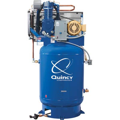 Amazon.com: - Quincy QT-10 Splash Lubricated Reciprocating Air Compressor with MAX Package - 10 HP, 208 Volt, 3 Phase, 120 Gallon Vertical, ...