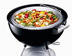 "Weber 22 12"" Kettle Charcoal Grill Stainless Steel Wok 8412"