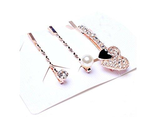 3 Sets Crystal Clip Square Word Diamond One Hair Clip Hair Headdress Hairpin Decoration Yiyuer fwaSq
