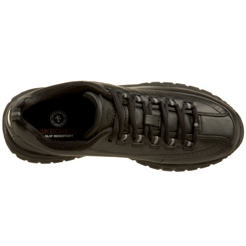 Skechers For Work Womens Soft Stride-Softie Slip Resistant Lace-Up Black