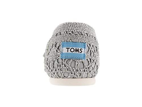 Mujer Espadrilles Crochet Classic TOMS Plata Metallic S0qUSYd