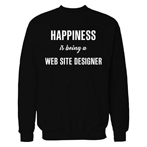 41QbQMxQSPL - Happiness Is Being A Web Site Designer Cool Gift - Sweatshirt
