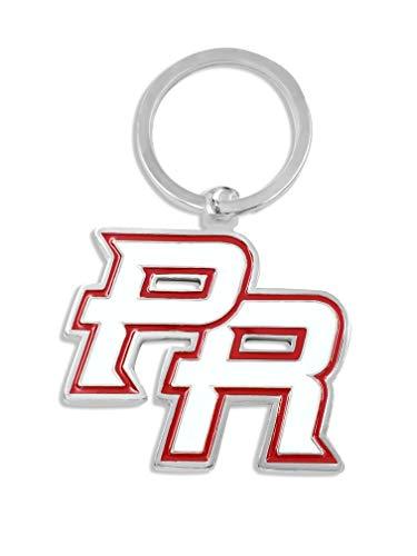 Puerto Rico PR Keychain (White/Red)