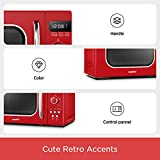 COMFEE' Retro Countertop Microwave Oven with