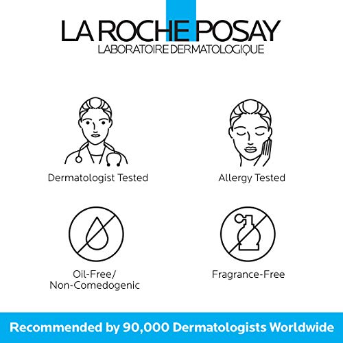 La Roche-Posay Toleriane Face Wash Cleanser, Purifying Foaming Cleanser for Normal Oily & Sensitive Skin, 6.76 Fl Oz