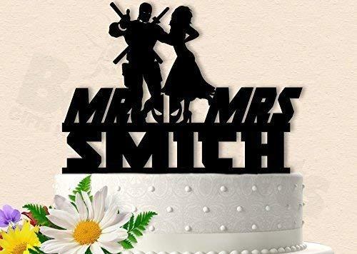 Super Hero with Bride Wedding Cake Topper ()