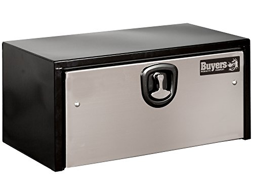 Buyers Products Black Steel Underbody Truck Box w/Stainless Steel Door (18x18x36 Inch) ()