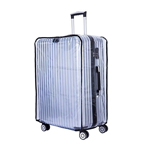 "BlueCosto (Clear PVC) Travel Luggage Protector Suitcase Cover 22"" (15.0""L x 10.2""W x 21.7""H)"