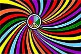 NEW 3x5 Rainbow Swirl Peace Flag 3 x 5 Gay Pride Banner