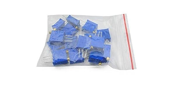 15 Values 3296 Trimmer Trim Pot Resistor Potentiometer Kits NEW