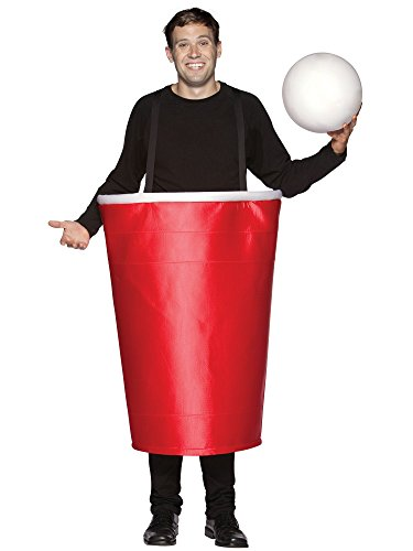 Rasta Imposta Beer Pong Cup Costume, Red, One Size ()
