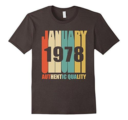 Mens Retro January 1978 T-Shirt Vintage 40th Birthday Gift Shirt XL Asphalt