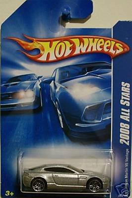 Hot Wheels 2008-050 Aston Martin V8 Vantage All Stars 1:64 Scale