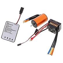 MonkeyJack LED Program Card 60A ESC 3660 3800KV Brushless Motor for RC Car Accessory