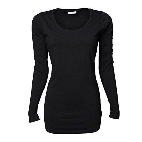 Tee Jays - Ladies Stretch Long Sleeve Extra Long XXL,Black