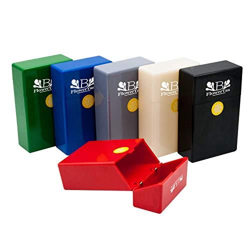 Case Pack Cigarette (BFlowerYan Hard Box Full Pack Cigarette Case (King Size) (Assorted Colors) (3 Pack))