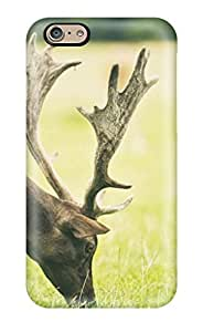 High Quality Frances T Ferguson Deer Eating Skin Case Cover Specially Designed For Iphone - 6