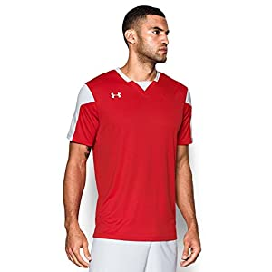 Under Armour Men's Maquina Jersey, Red (600)/White, Large