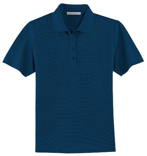 Port Authority - Ladies Dry Zone; Ottoman Sport Shirt. >> L,Navy