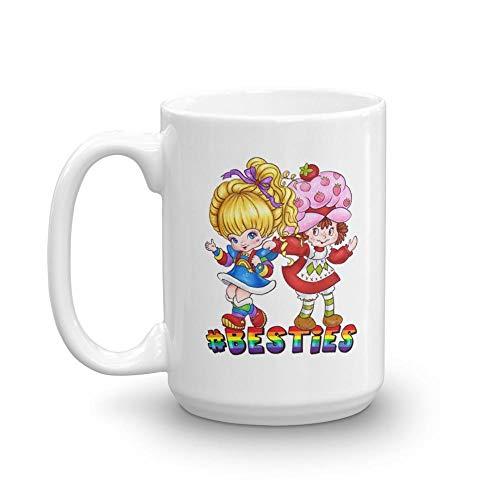 - Besties - 80s Mug 15 oz White Ceramic Unique Design Coffee Tea Mug Funny Gift For Men Women