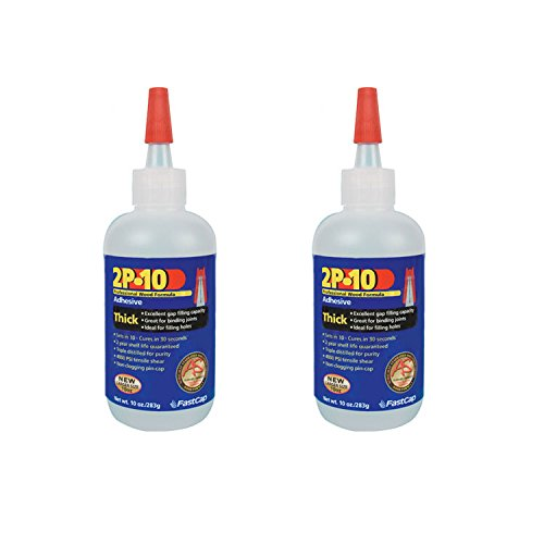 FastCap 2P-10 Professional Thick 10 oz Wood Formula Super Glue Adhesive, 2-Pack