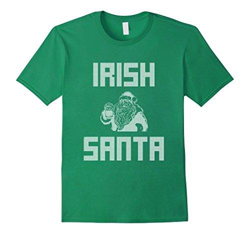 Irish Santa Drinking Beer
