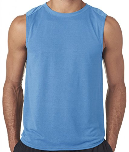Carolina Tank - Yoga Clothing For You Mens Sleeveless Muscle Tank Top, 2XL Carolina Blue