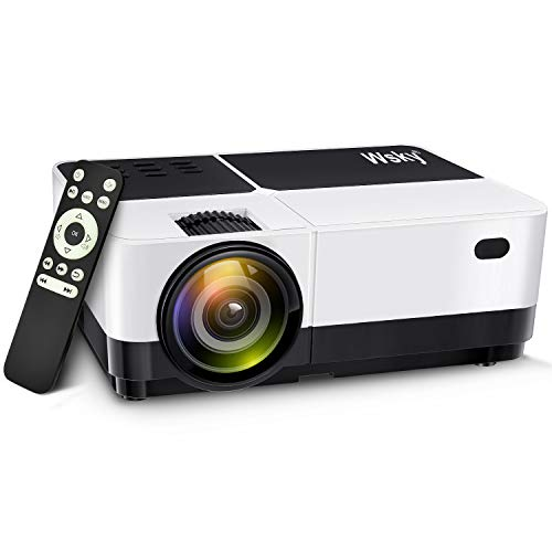 Wsky 2018 Upgraded 2500 Lumens LCD LED Portable Home Theater Video Projector, 30000+ Hours Support HD 1080P for Outdoor Movie Night, Family, Compatible with Phone, DVD Player, PS4, XBOX, HDMI, USB, SD